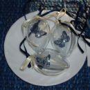 Swap pirhov - Karen Marie čipke, prozoren jajček in svilen trak.