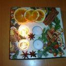 Če človek nima svojih idej, kopira Kate :-))). Adventni svečnik - odlitek, servetek, nekaj