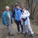 smo dali dekleta v nahrbtnike in šli na obisk k teti Jožici (Kaja pravi teta Rožica) in st