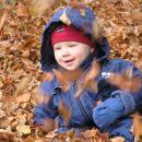 jesenske radosti..če hočete spravit Kajči v dobro voljo, potem jo peljite tekat po listju:
