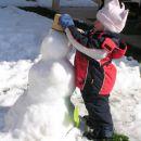 'jaz pa delam sneženega moža'
