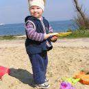Fiesa in pesek in Kajči je imela celi dan nasmeh na obrazu