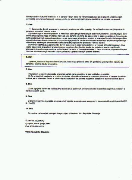 Uredba o označevanju stanovanj in poslovnih prostorov list 2