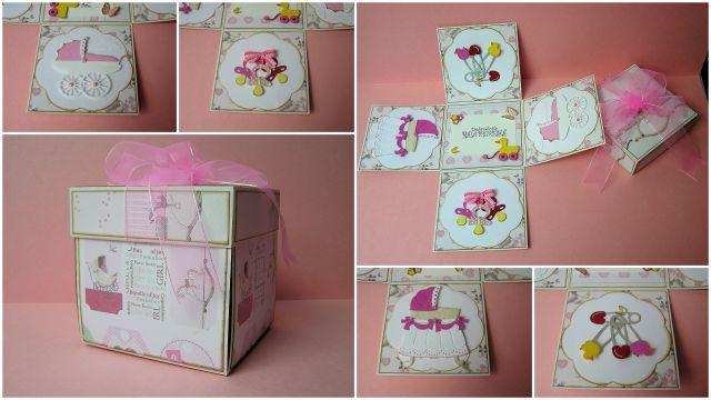 Moja prva Explosion Box, za dojenčico Ajdo ♥