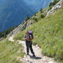 Povratek po Slovenski smeri, od koder sva uživala po izjemnih razgledih Trente in trentars