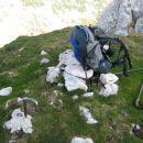 Na vrhu Tosca. Podroben pogled pove, da so se tu pasle ovce.