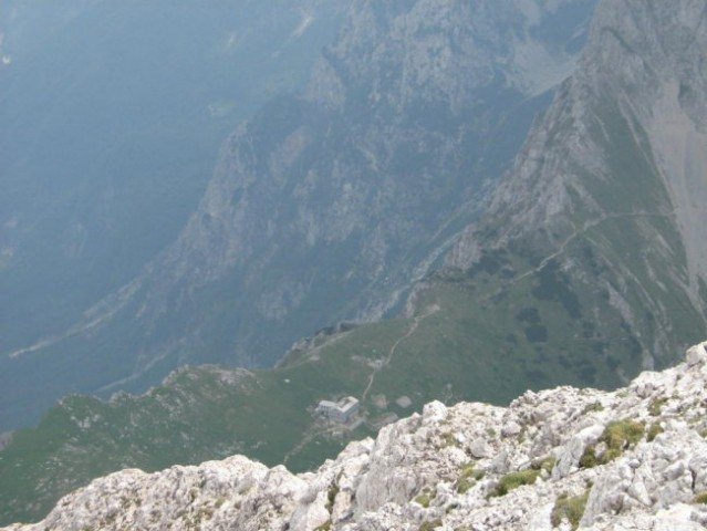 Kamniško sedlo iz vrha Brane.
