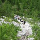 Prvi vzpon proti Bornovi poti na Preval-o.