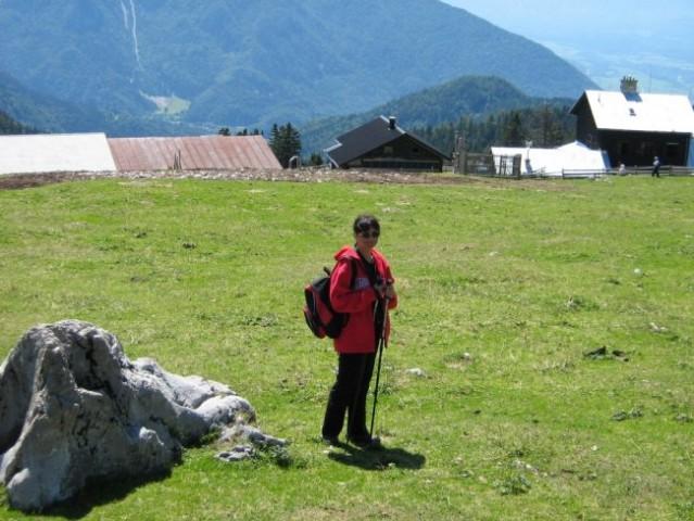 Skala, za katero sta se Irena in Rok sončila, medtem, ko sem bil na Velikem vrhu.