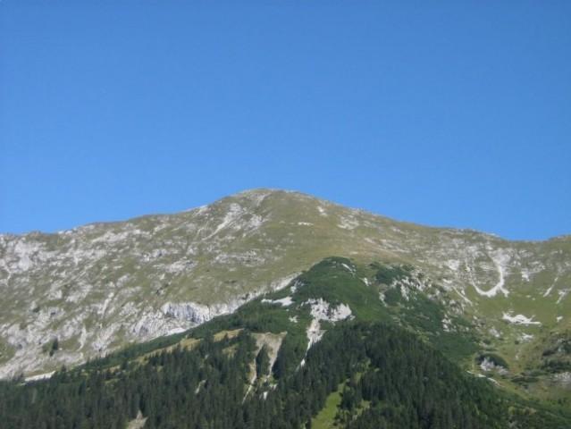 Veliki vrh, 2088m visoki vršac na začetku Košute.