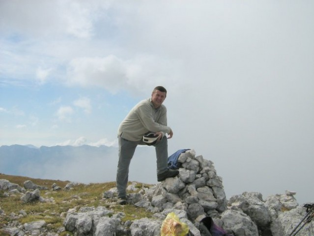 Moja malenkost na predvrhu Debelega vrha.