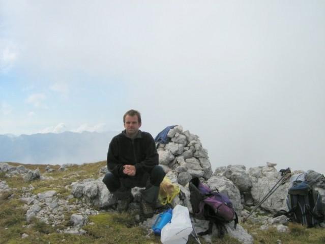Marko na predvrhu Debelega vrha.