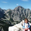 Manca in pogled na gore v ozadju