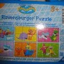 6 kock v kovčku, 6 motivov za sestavljanje, otrok jih loči po barvi.
