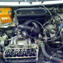 No tukaj se vidi še ostala napeljava za nadtlake in bencin. Ekstra benz pumpa, filter in r