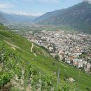 Po aklimatizaciji v Švici smo se odpeljali proti Chamonixu. Pogled na vinogradniško dolino