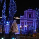 Novoletno okrašena Ljubljana