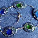 Ogrlica 3 Modro-zeleno