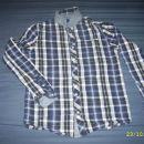 OKAIDI karo srajca, kombinirana z jeansom, 14 let (162 cm)