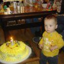 Moj prvi rojstni dan in prva svečka.