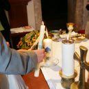 s krstnima svečama sva prižgala novo družinsko svečo, lep običaj...