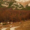 planina razor, v ozadju desno današnji cilj