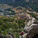 pogled iz stene na še eno izmed trdnjav
