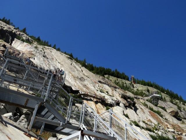 še ne dolgo nazaj je bil ledenik do vrha skal