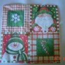 2. - trostranski s snežkom in z malimi slikicami - 10 kos