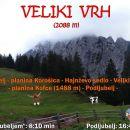 Veliki Vrh (2088 m) in Kofce (1488 m)