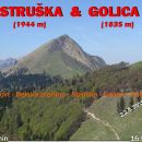 STRUŠKA (1944 m) in GOLICA (1835 m)