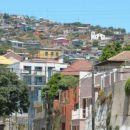 Valparaiso - tipična naselja blizu obale Tihega oceana