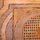nalepljene načrte se pobrusi in pokaže prava barva lesa