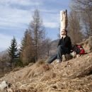 In še moja malenkost , tule sem na travniku pod Potoško.