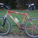 Takole umazan je bil bicikel, potem ko sem zaključil z današnjo vožnjo.