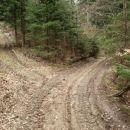Tukaj sem šel levo gor na Miklavža, nakar sem se kasneje vračal po desni smeri