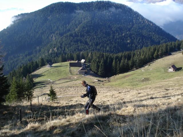 Vzpon nad planino Javornik