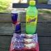 Na jezerskim sem se takole založil. Takoj sme spil Red Bulla, in pojedel eno frutabelo. Zr