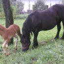 Gezo in mama Cveta na vrtu