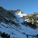 na severni strani viševnika je zima
