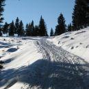 malo snega, z lahkim korakom proti dovjemu stanu (dovja raven)