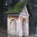 propadajoča kapelica z mahovnato streho