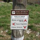 oznake na kolovratu so večinoma italijanske, slovenske so potrebne obnove
