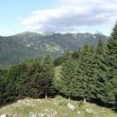 prvi razgledi s travnikov danjarske planine proti vrhovom nad soriško planino