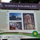 informativna tabla za marijino romarsko pot