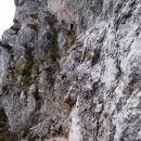 začetek plezanja...