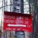tole je nevarno zavajanje, lovska pot res ni lahka planinska pot!