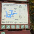 informativna tabla v bližini šmartinskega jezera pri velikem parkirišču