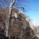 severna stena Poldanovca je videti prav divja
