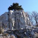 divja skalne oblike na planoti nad dolino Glinščice (Mali Kras, Gradišče)